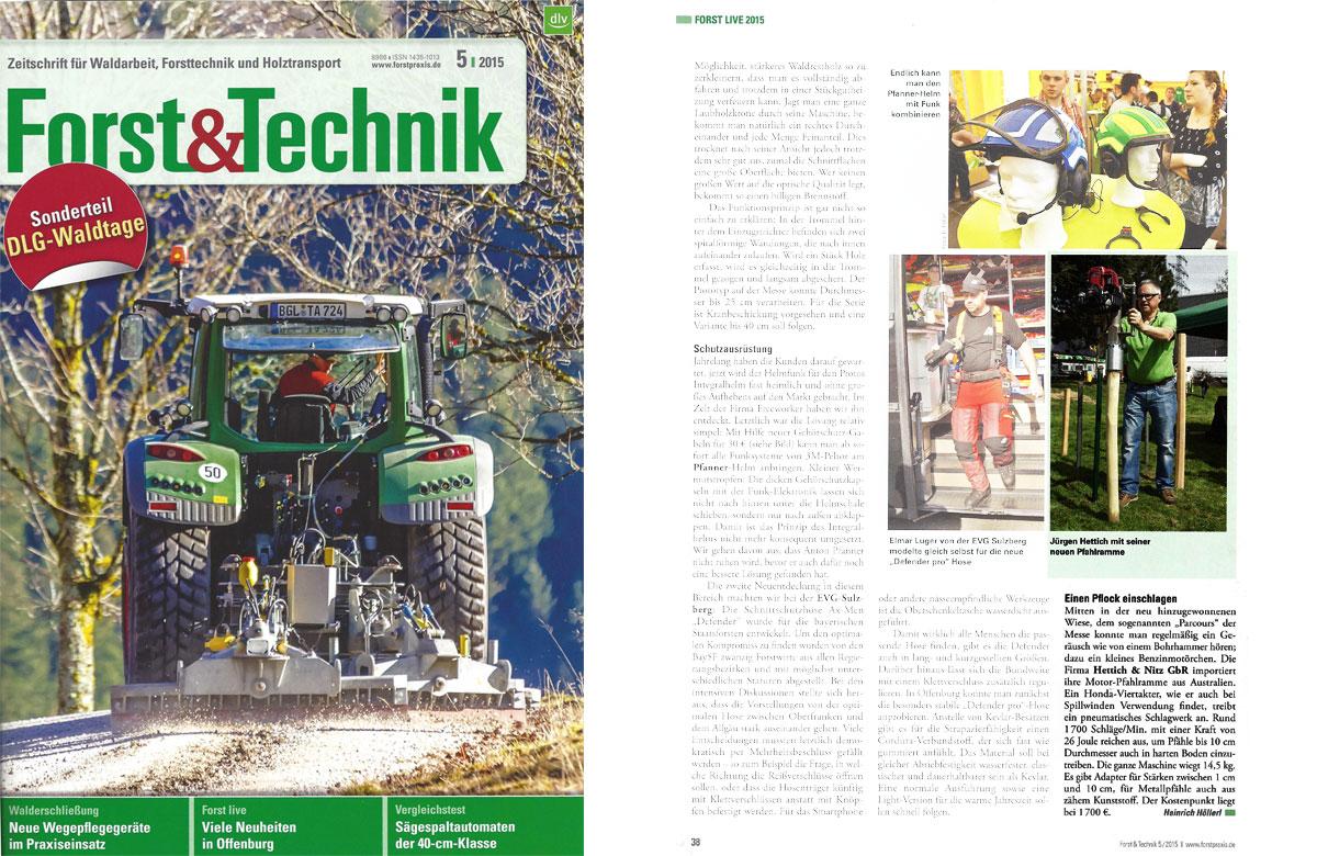 Testbericht Motor-Pfahlramme im Magazin Forst & Technik
