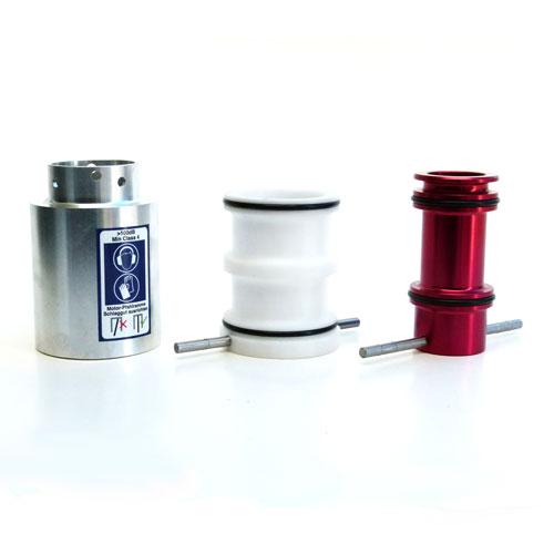 Adapter für Motor-Pfahlramme: Reduzierhülse von 107mm Alu-Adapter auf 78mm